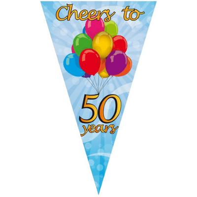 Puntvlag XXL Cheers 50 Years