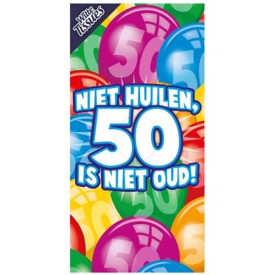 Tissuebox - Niet huilen, 50 is niet oud!