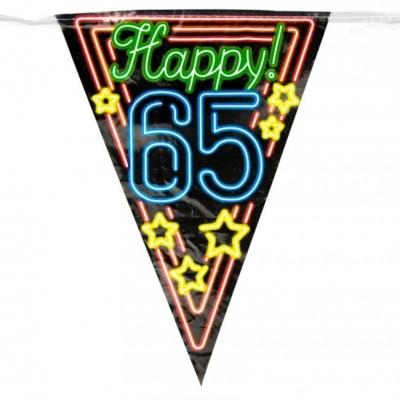 Vlaggenlijn 65 jaar Neon