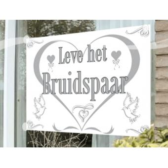 Raamvlag Leve Het Bruidspaar