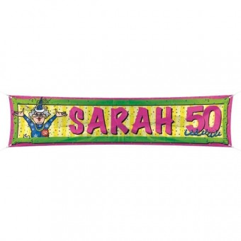 Straatbanier Sarah