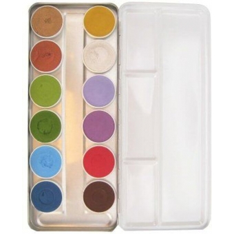 Schminkset op waterbasis 12 kleuren