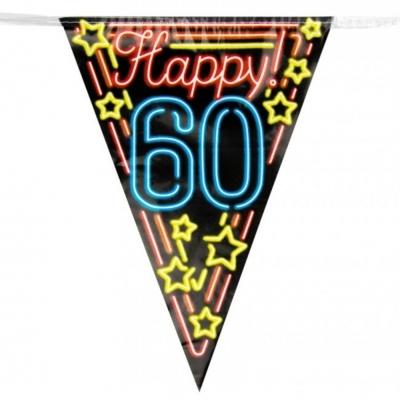 Vlaggenlijn 60 jaar Neon