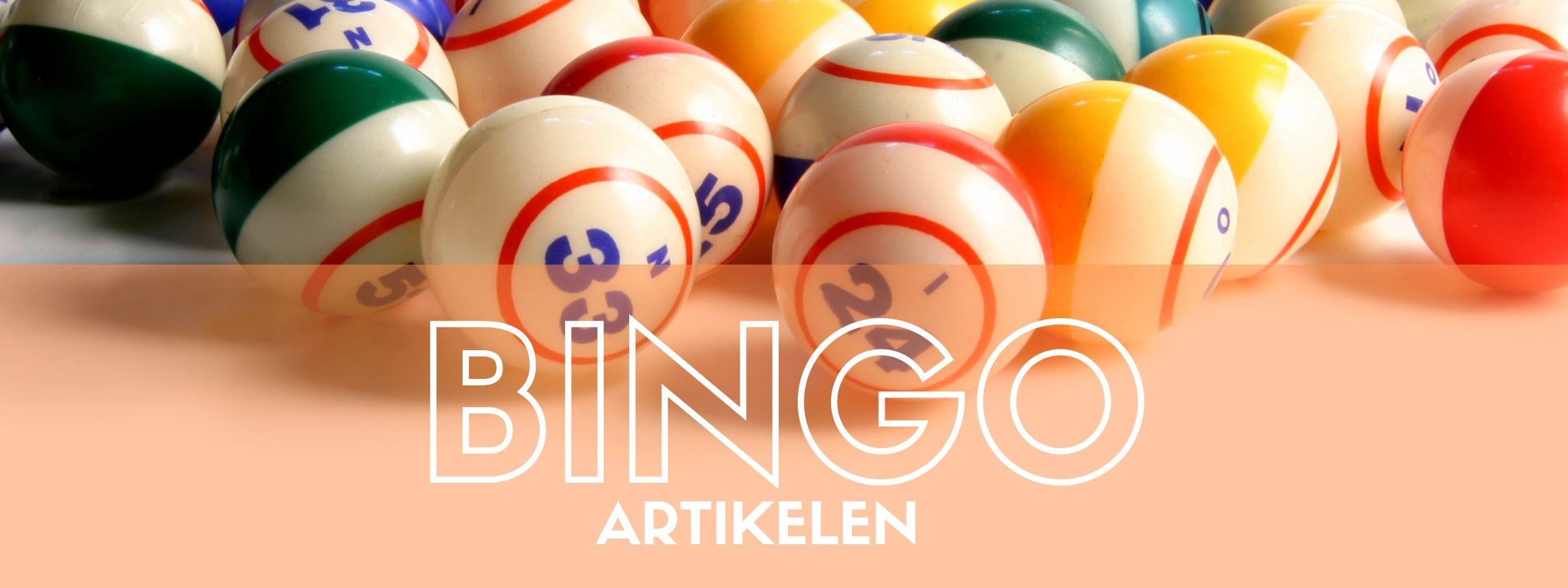 Bingo artikelen bestellen bij JB Feestartikelen