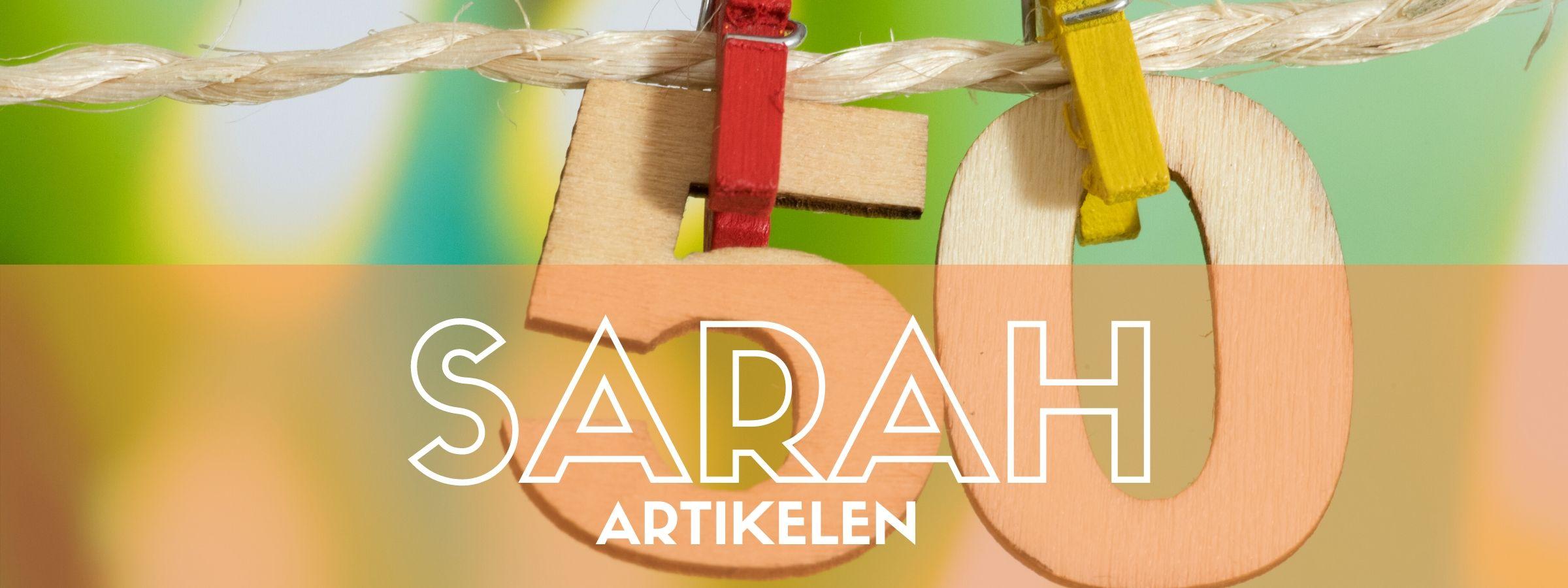 Koop de leukste Sarah vlaggen bij JB Feestartikelen