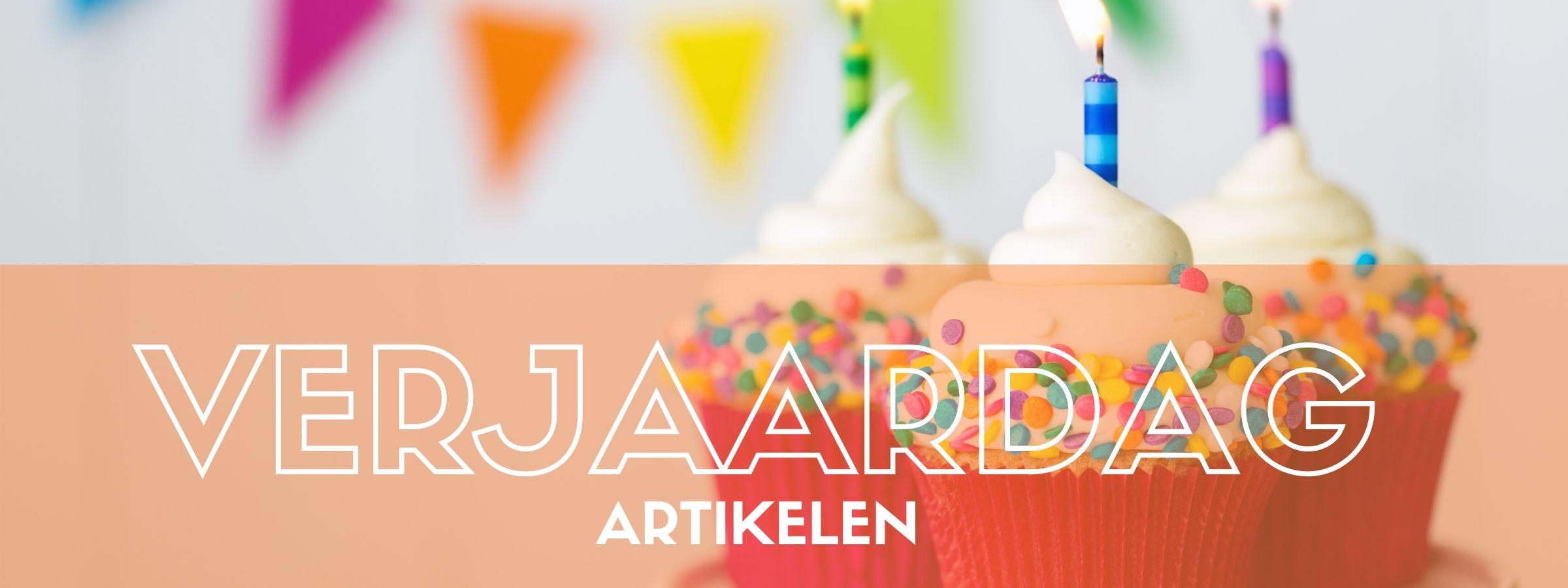 Artikelen voor een verjaardag bestel je bij JB Feestartikelen